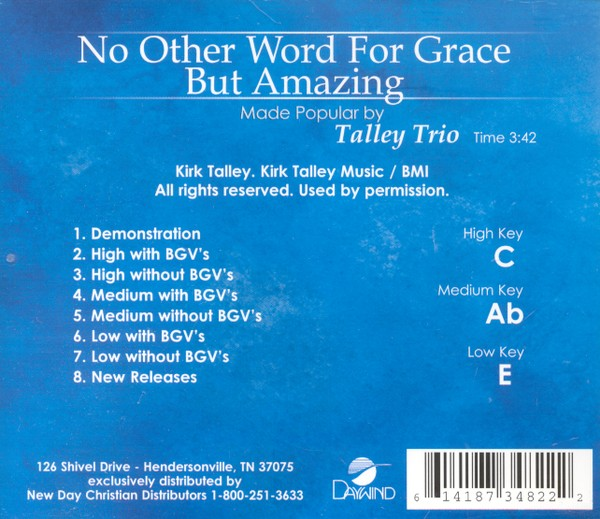 No Other Word For Grace But Amazing, Accompaniment CD