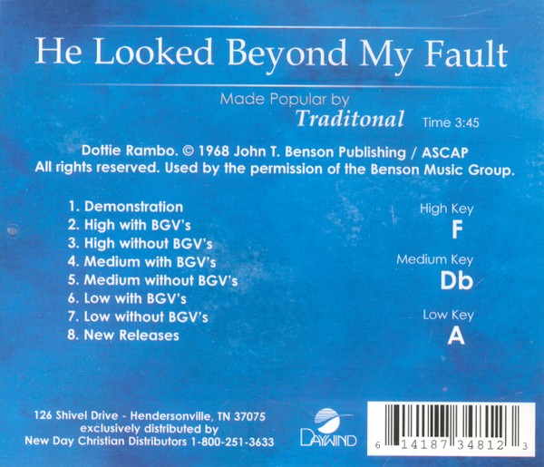 He Looked Beyond My Fault, Acc CD