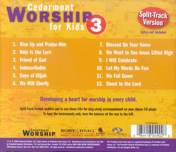 Cedarmont Worship for Kids: Volume 3 (with Split Tracks), CD