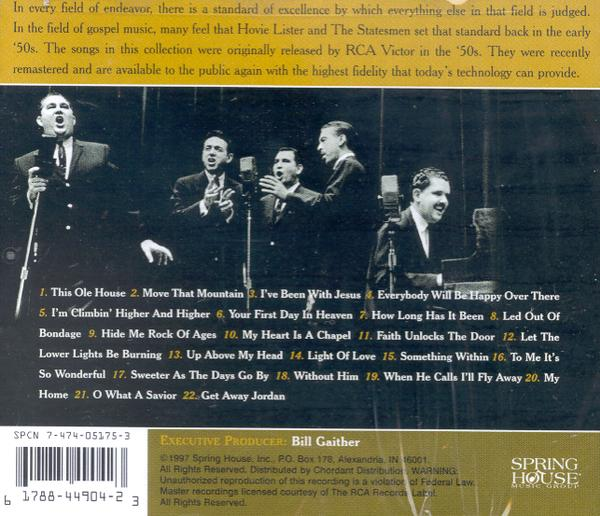 Hovie Lister and the Statesmen CD