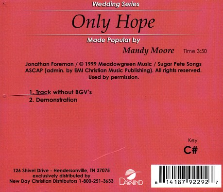 Only Hope, Acc CD
