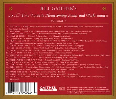 Gaither Homecoming Classics, Volume 2, Compact Disc [CD]