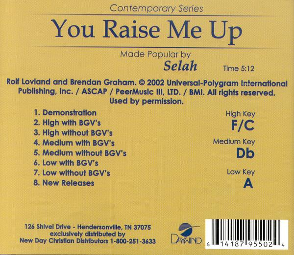You Raise Me Up, Acc CD