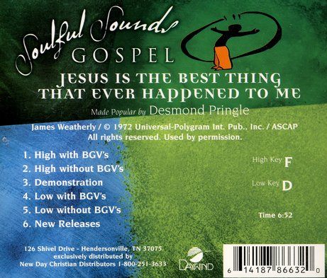 Jesus Is The Best Thing, Accompaniment CD