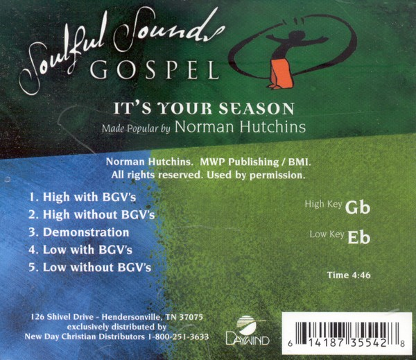 It's Your Season, Accompaniment CD