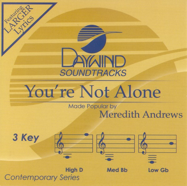 You're Not Alone, Accompaniment CD