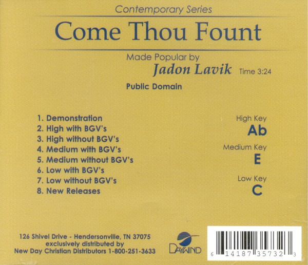 Come Thou Fount, Acc CD