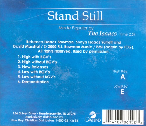 Stand Still, Acc CD