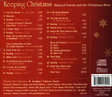 Keeping Christmas CD