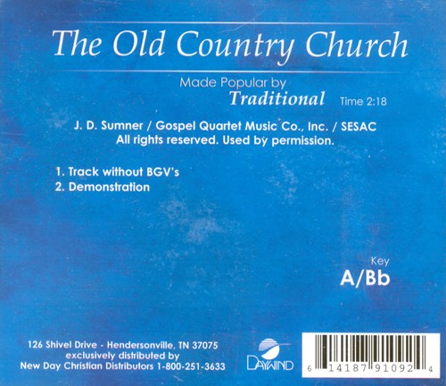 Old Country Church, Acc CD