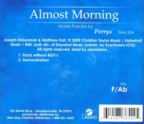 Almost Morning, Accompaniment CD