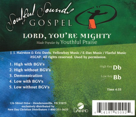 Lord, You're Mighty, Acc CD