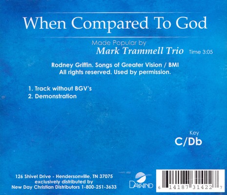 When Compared To God, Acc CD