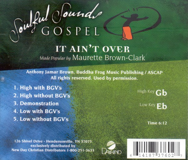 It Ain't Over, Accompaniment CD