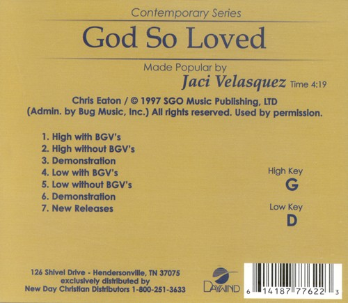 God So Loved, Acc CD