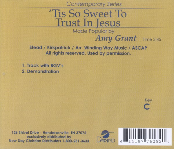 'Tis So Sweet To Trust In Jesus, Accompaniment CD