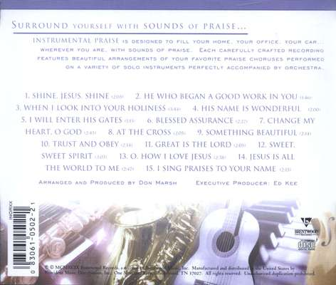 Instrumental Praise: Great Is The Lord, Compact Disc [CD]