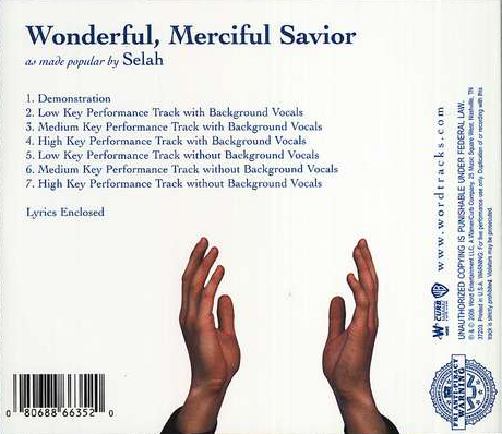 Wonderful, Merciful Savior, Acc CD