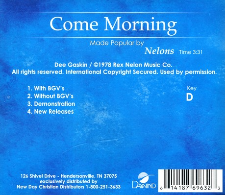 Come Morning, Acc CD