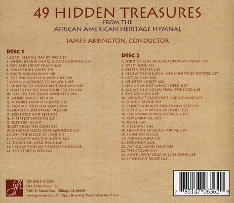 49 Hidden Treasures from the African American Heritage Hymnal (2 CD's)