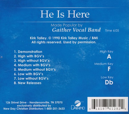 He is Here, Acc CD