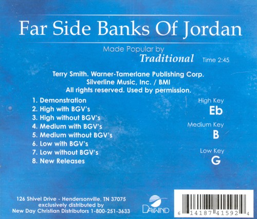 Far Side Banks of Jordan, Acc CD