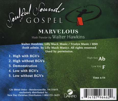 Marvelous, Accompaniment CD