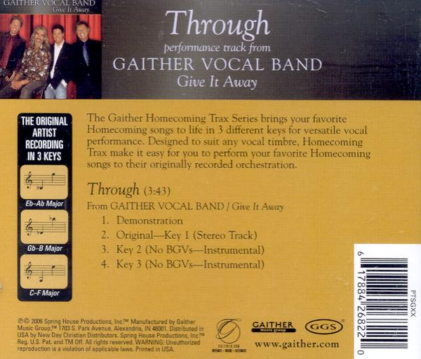 Through, Accompaniment CD