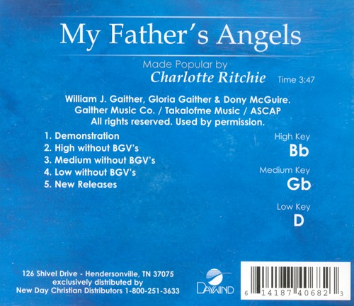 My Father's Angels, Accompaniment CD