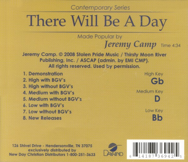 There Will Be A Day, Accompaniment CD