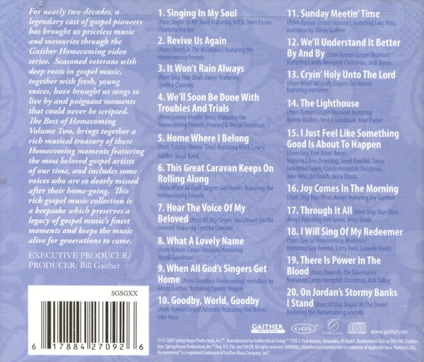 Best of Homecoming, Volume 2 CD