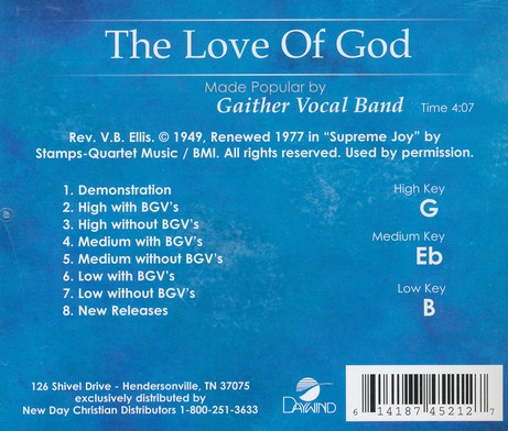 The Love Of God, Acc CD