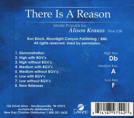 There is a Reason, Acc CD
