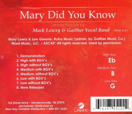 Mary, Did You Know? Acc CD