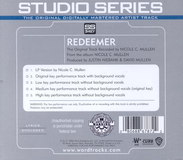 Redeemer, Accompaniment CD