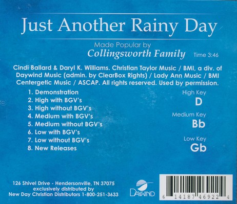 Just Another Rainy Day, Acc CD