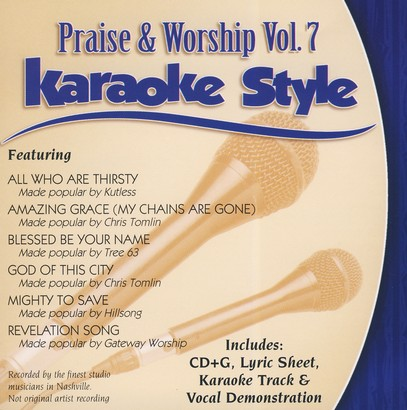 Praise & Worship, Vol. 7, Karaoke CD