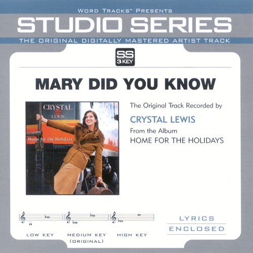 Mary Did You Know, Accompaniment CD