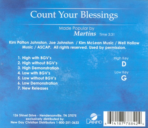Count Your Blessings, Acc CD