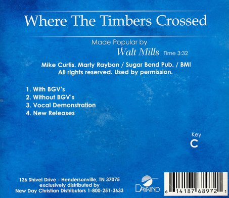 Where The Timbers Crossed, Acc CD