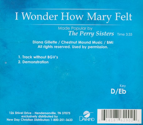 I Wonder How Mary Felt, Accompaniment CD