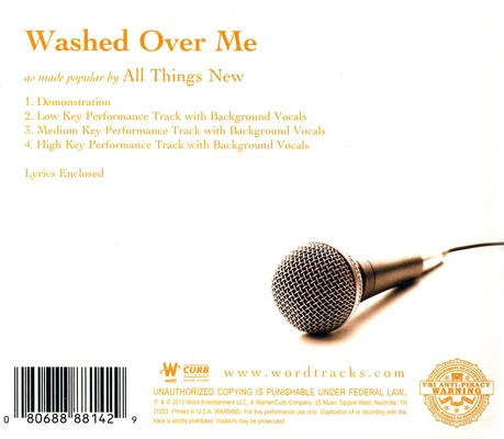 Washed Over Me, Acc, CD