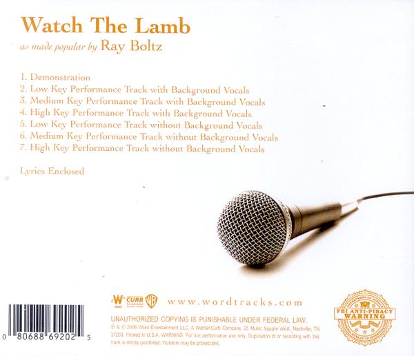 Watch the Lamb, Acc CD