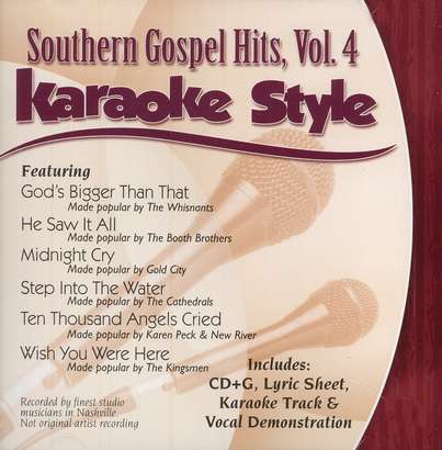 Southern Gospel Hits, Volume 4, Karaoke Style CD