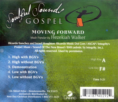Moving Forward, Accompaniment CD