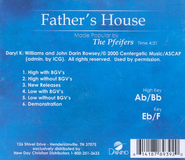 Father's House, Accompaniment CD