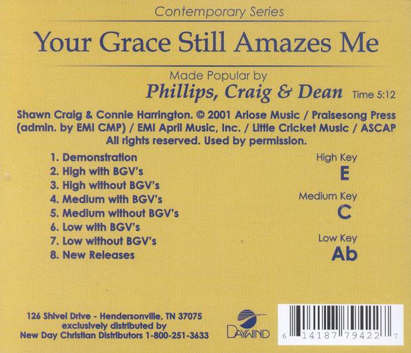 Your Grace Still Amazes Me, Acc CD
