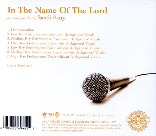In The Name Of The Lord, Acc CD