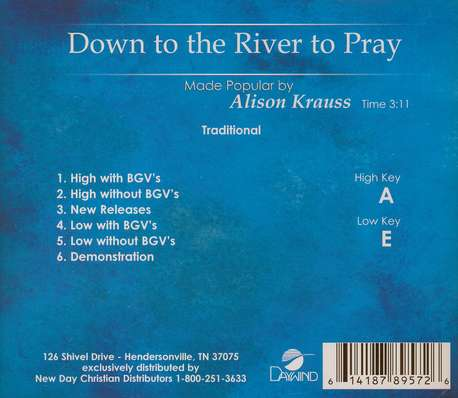 Down To The River To Pray, Acc CD