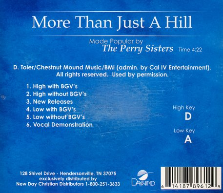 More Than Just a Hill, Acc CD